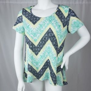Absolutely Famous Chevron top